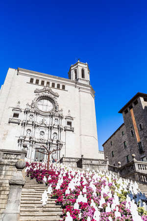 Girona Cathedral in Girona Temps de Flors time.