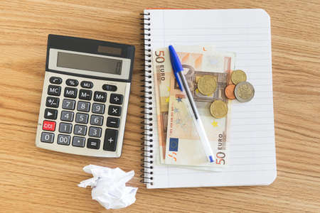 Things ready to do financial balance. photo