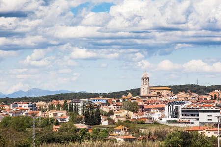 selva: Small town of Cassa de la Selva, Girona.