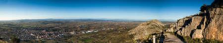 costa brava: Vue panoramique sur les champs Empord�, Costa Brava.