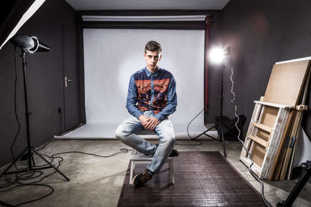 Young boy in a studio photoshoot photo