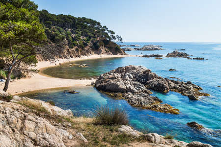 Cala Estreta, little coast corner of Costa Brava.
