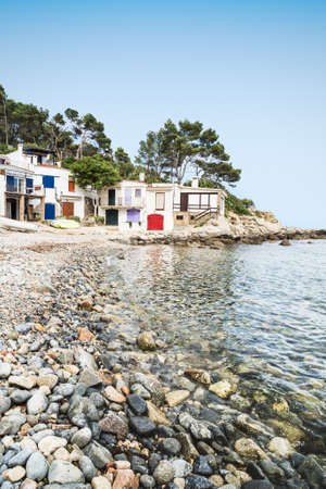 Landscape of Salguer beach in Costa Brava. Palamos. Stock Photo