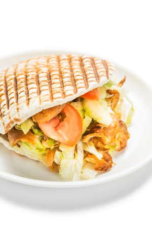 donner: Doner kebab isolated on white background.