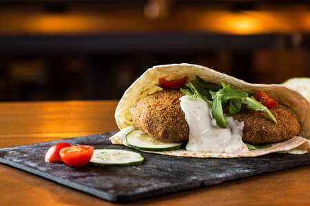 Delicious falafel snack ready to eat. Stock Photo - 30702458