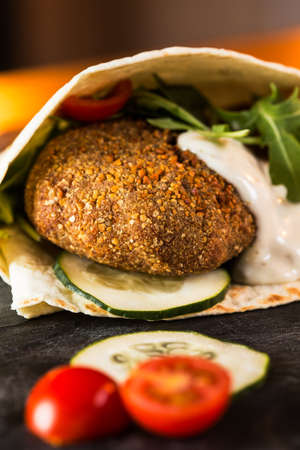 Delicious falafel snack ready to eat.