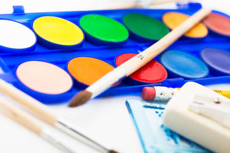 paintbox: New school tools ready to use. Stock Photo
