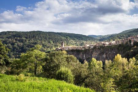 roca: Awesome village of Castellfollit de la Roca, Girona.
