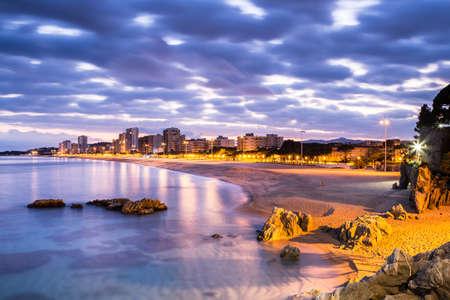 Playa de Aro paesaggio, Costa Brava. Spagna. Archivio Fotografico - 35605405