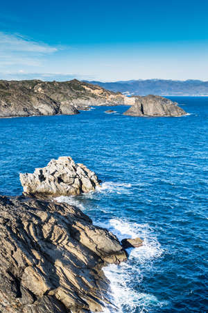 Landscape of Cap de Creus, a natural reserve in Costa Brava, Spain. photo