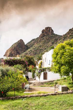 aeolian: Sicilian village of Stromboli, Aeolian islands.