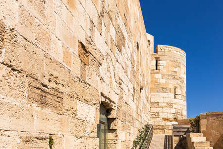 fortress: Siracusa fortress pathway, Sicily. Editorial