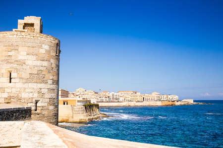 ortigia: Siracusa castle in ortigia island. Sicily, Italy.