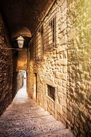 jewish quarter: Girona jewish neighborhood, one of the best conserved jewish quarter of Spain.