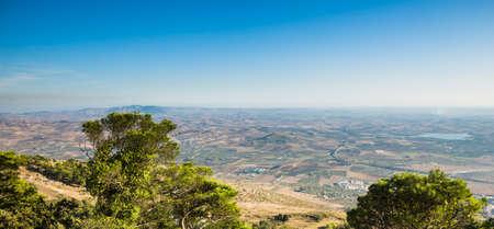 sicilia: Landscape of sicily from Erice, Trapani.