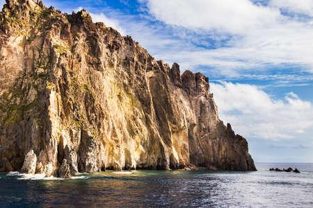 aeolian: Aeolian island rocks in middle of the sea
