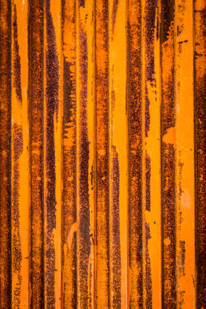 oxidized: Texture of a oxidized and rust metal door. Stock Photo