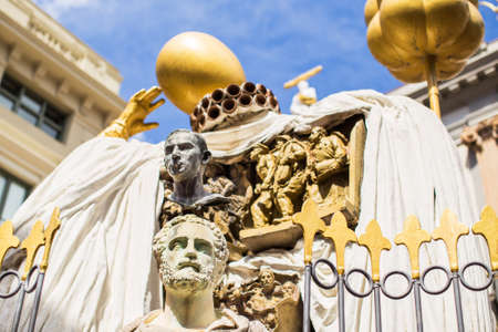 salvador dali: Facade of Salvador Dali art museum, Figueres. Spain.