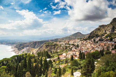taormina: Typical landscape of Taormina village, Sicily. Italy.
