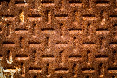 oxidized: La textura de una superficie de metal oxidado y el �xido. Foto de archivo