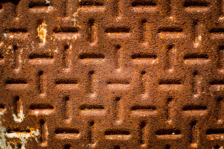 oxidized: Texture of a oxidized and rust metal surface.