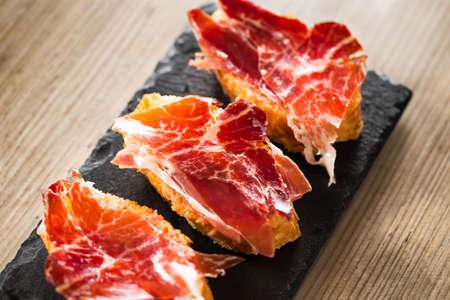 Jamon iberico, the best spanish ham tapas.