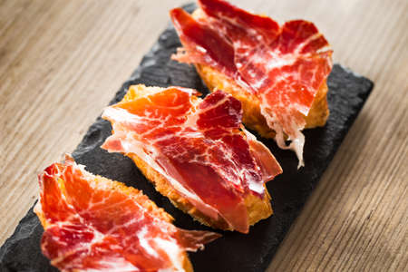 iberico: Jamon iberico, the best spanish ham tapas.