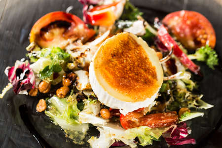 Typical spanish goat cheese salad.