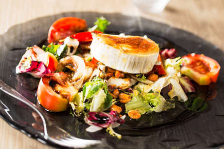 typical: Typical spanish goat cheese salad.