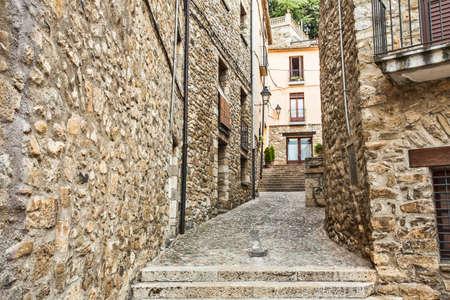 jewish houses: Besalu medieval village, Girona. Spain.