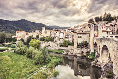 jewish quarter: Besalu medieval village, Girona. Spain.