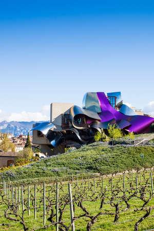alava: Great cellar of Marques de Riscal in Elciego, La Rioja. Spain