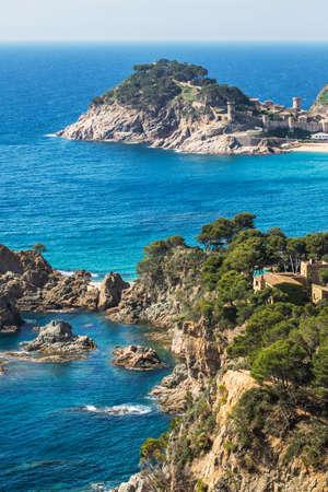 Landscape of Tossa de Mar in Costa Brava. Spain.