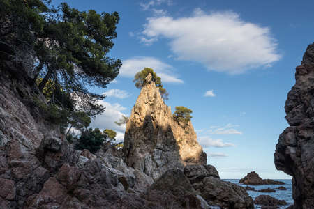 Cala el Golfet in Costa Brava, Spain.
