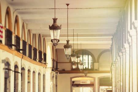 Details of picturesque city of Girona, Spain. Archivio Fotografico