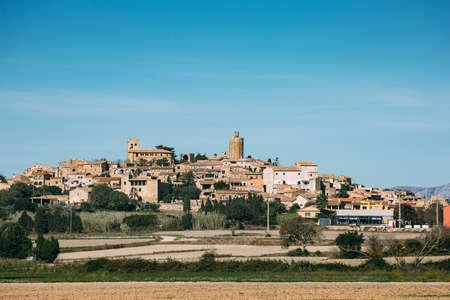 Landscape of Pals village in a sunny day. Costa Brava - Spain. Archivio Fotografico