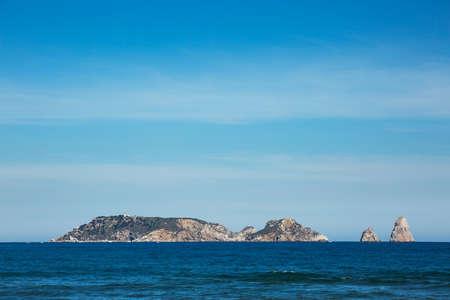 Panorama of illes medes islands in Estartit. Costa Brava, Spain.