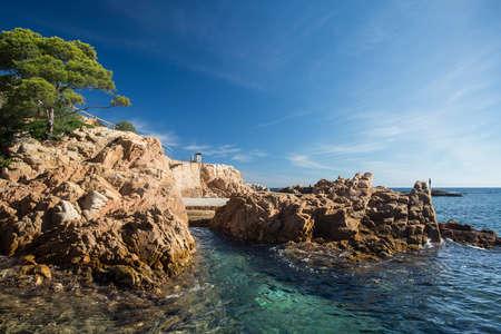 Landscape of Fornells beach in Costa Brava, Spain.