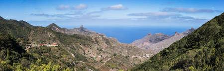 Panoramic landscape of Anaga mountains in Tenerife, famous tourism destination in Spain. Archivio Fotografico