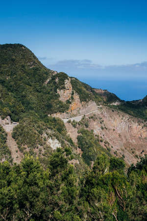 Landscape of Anaga mountains in Tenerife, famous tourism destination in Spain.
