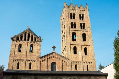 Romanesque monastery of Ripoll in Catalonia, Spain. Archivio Fotografico