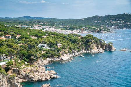 Landscape of Calella de Palafrugell from Cap Roig gardens. Archivio Fotografico