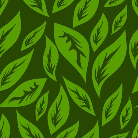unevenly: seamless pattern of green color of leaves