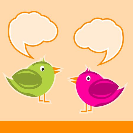 two birds: Two birds isolated print vector background