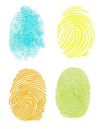 Realistic fingerprint. Ilustrace