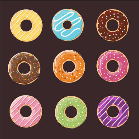 Donuts texture pattern.