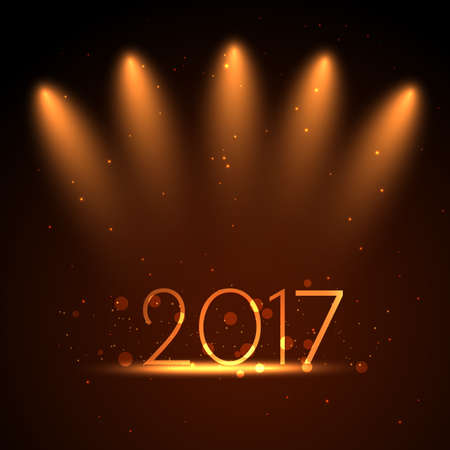fire works: Happy new year 2017, celebration theme.