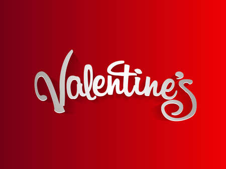 Happy valentines day text sign. Ilustrace