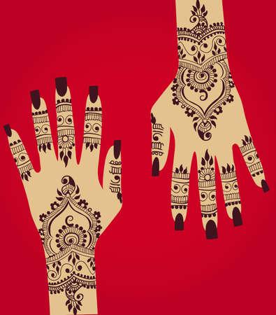Henna design. Ilustrace