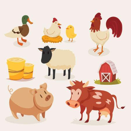 Illustration of a set of animals.